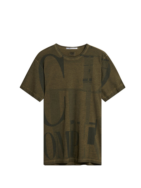 C.P. Company Short Sleeve Graphic T-Shirt in Green