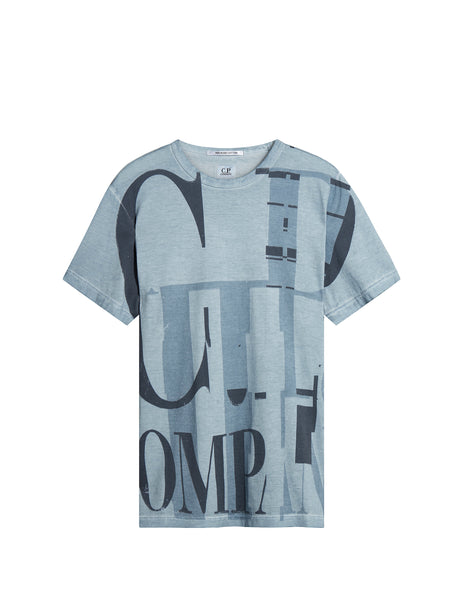 C.P. Company Short Sleeve Graphic T-Shirt in Light Blue