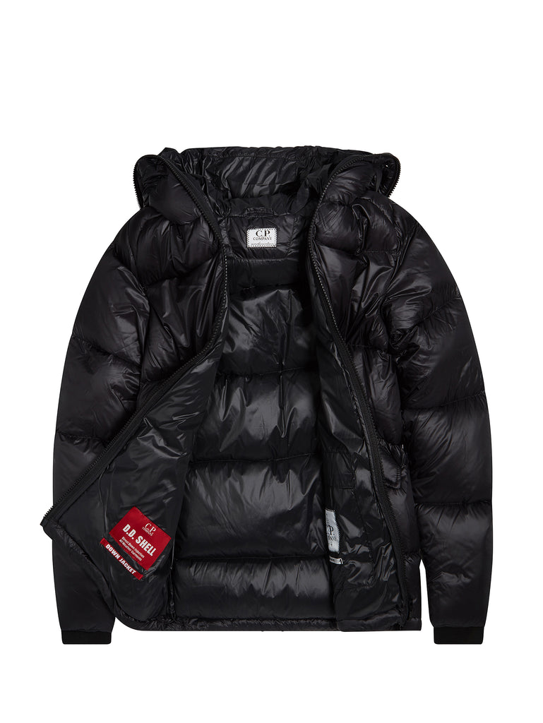 Undersixteen DD Shell Goggle Down Jacket in Black