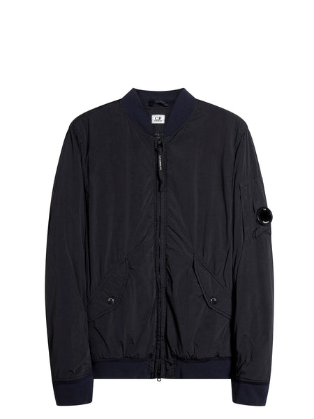Nycra Lens Bomber Jacket in Navy