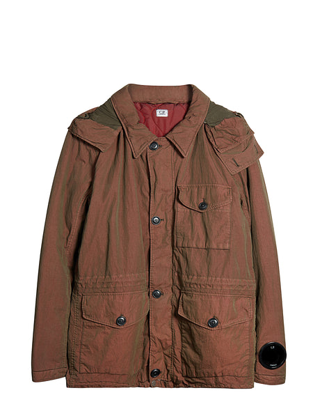 Double-dyed 50 Fili Goggle Field Jacket in Copper
