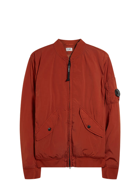 Nycra Lens Bomber Jacket in Orange