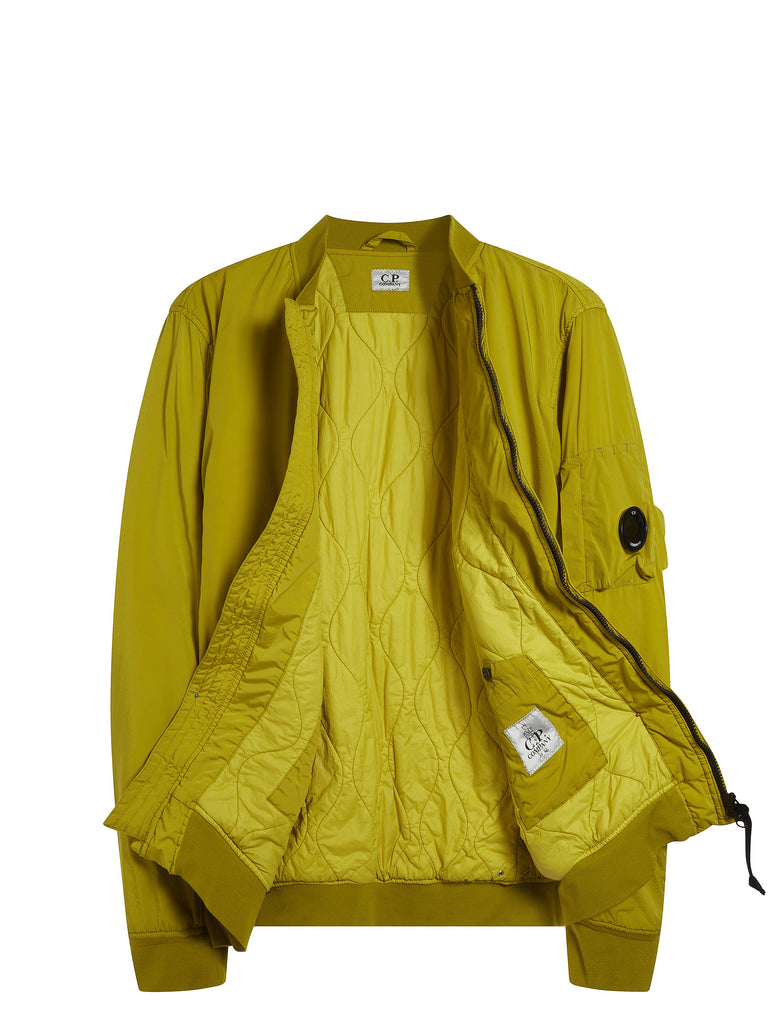 Nycra Lens Bomber Jacket in Yellow