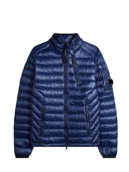 D.D. Shell Lens Zip Down Jacket in Blue