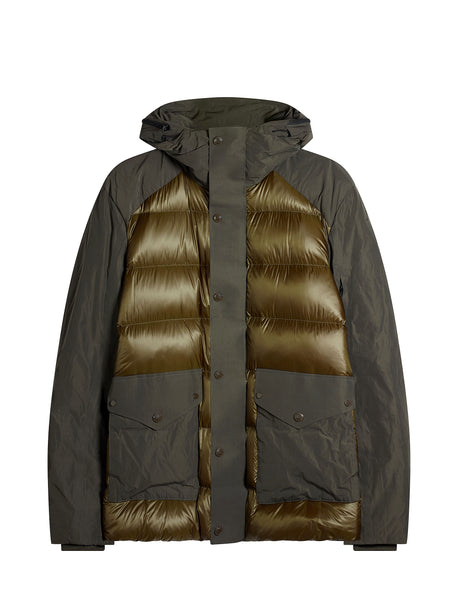 D.D. Shell Mix Down Jacket in Green