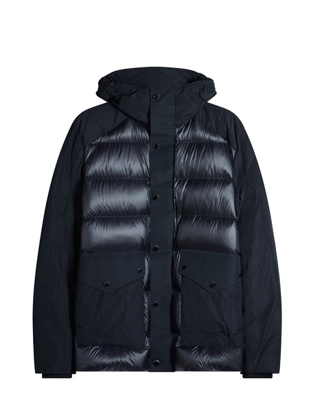 D.D. Shell Mix Down Jacket in Black