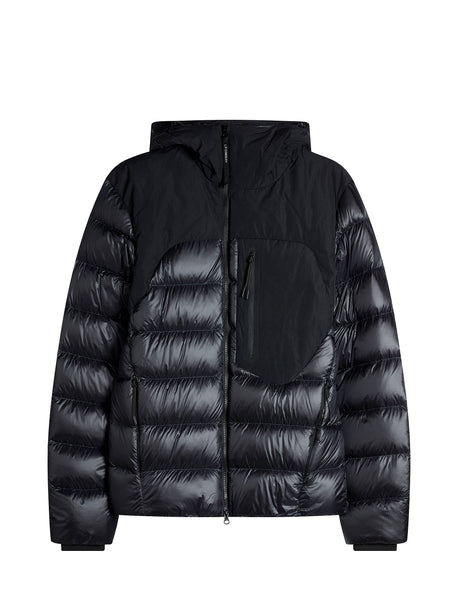 D.D. Shell Mixed Goggle Down Jacket in Black