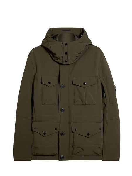 C.P. Shell Goggle Field Jacket in Military Green