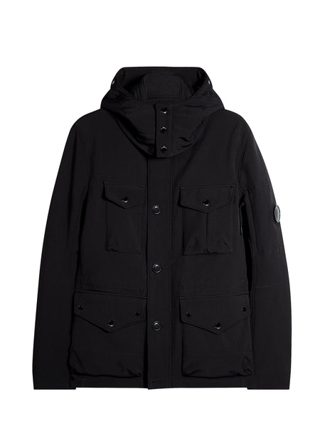 C.P. Shell Goggle Field Jacket in Black