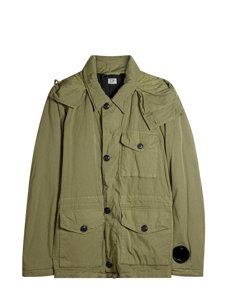 Double-dyed 50 Fili Goggle Field Jacket in Green
