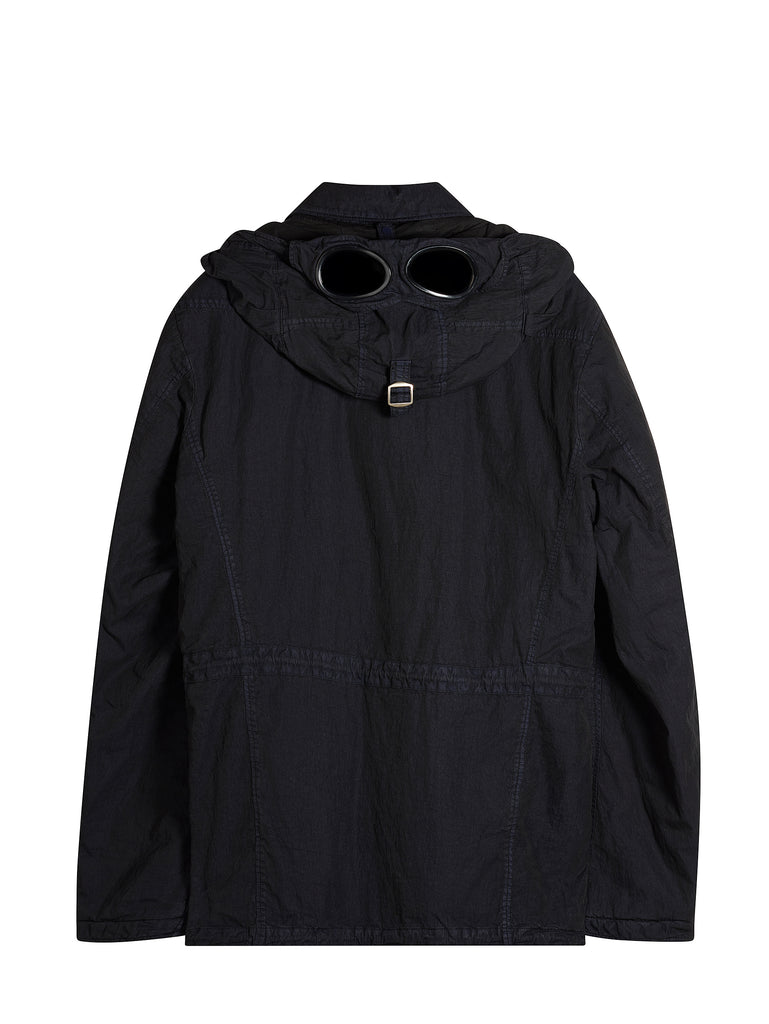 Double-dyed 50 Fili Goggle Field Jacket in Navy
