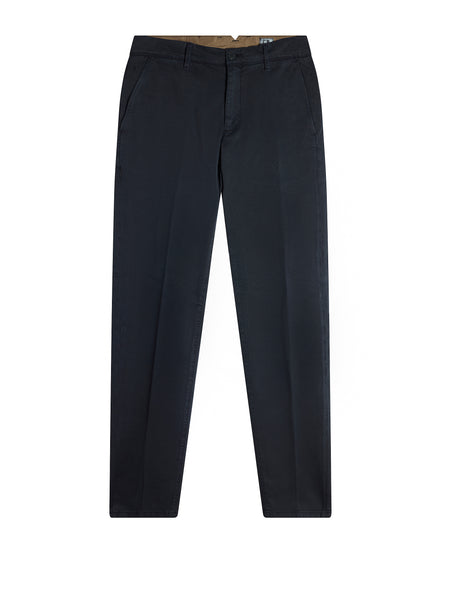 Slim Fit Garbadine Trousers in Navy