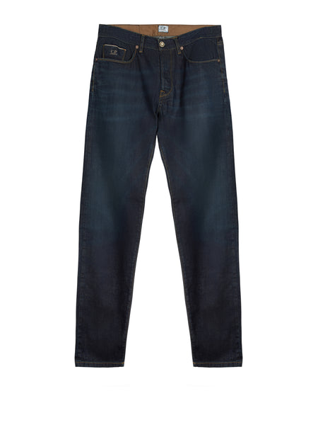 Regular Fit Washed Jeans in Blue