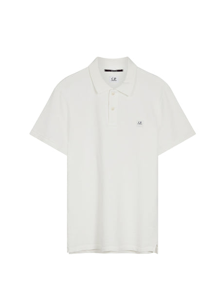 Cotton Pique Regular-Fit Polo Shirt in White