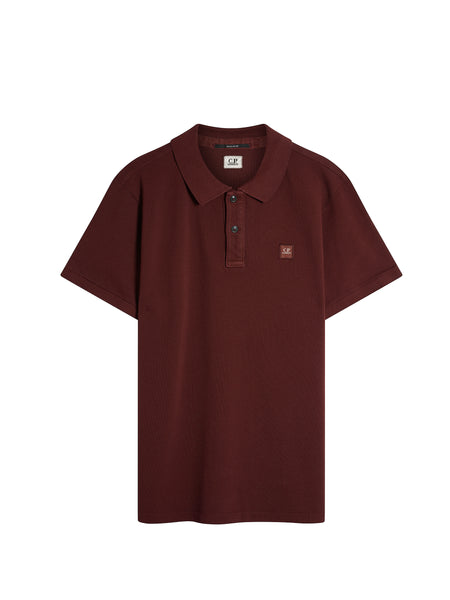 Cotton Pique Regular-Fit Polo Shirt in Plum