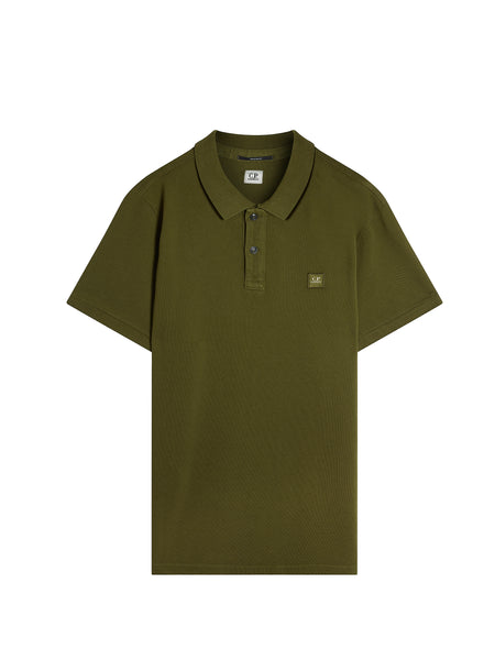 Cotton Pique Regular-Fit Polo Shirt in Green