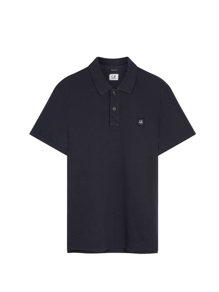 Cotton Pique Regular-Fit Polo Shirt in Navy