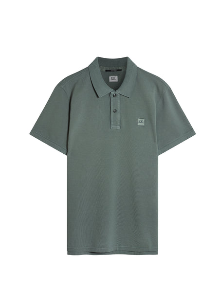 Cotton Pique Regular-Fit Polo Shirt in Grey