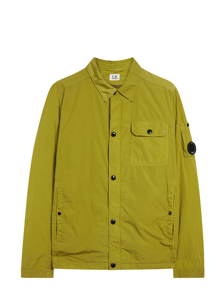 Garment Dyed Overshirt in Yellow