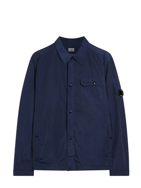 Garment Dyed Overshirt in Navy