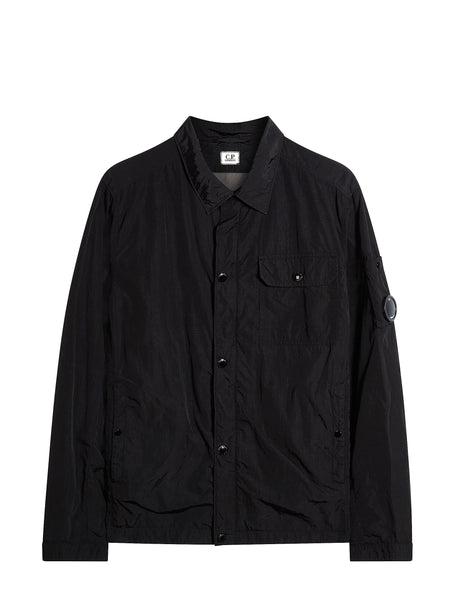 CHROME Multi-Filament Nylon Overshirt in Black