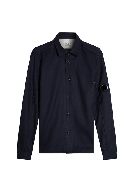 Panno Felt Overshirt in Navy