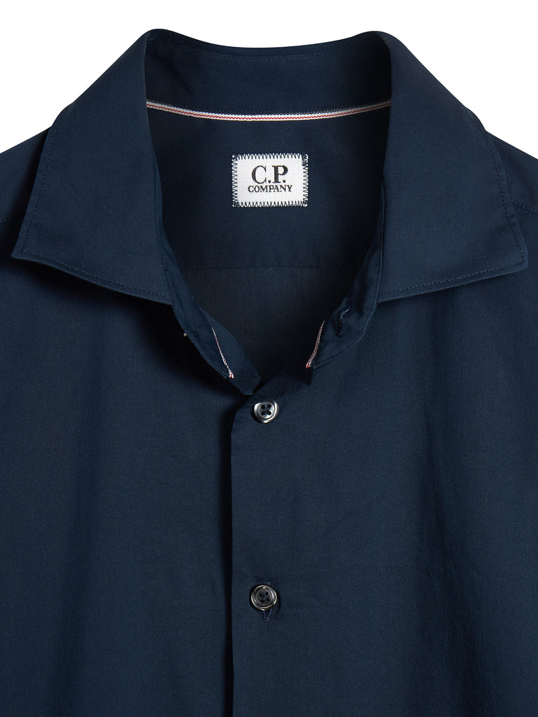 Long Sleeve Poplin Shirt in Navy