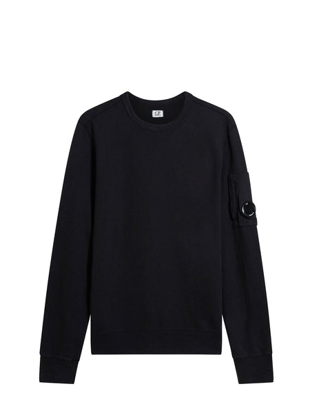 Light Fleece Lens Sweatshirt in Caviar Black