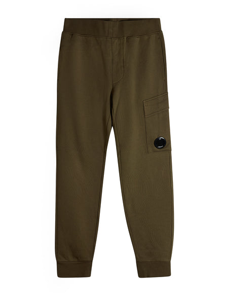Fleece Lens Trousers in Green