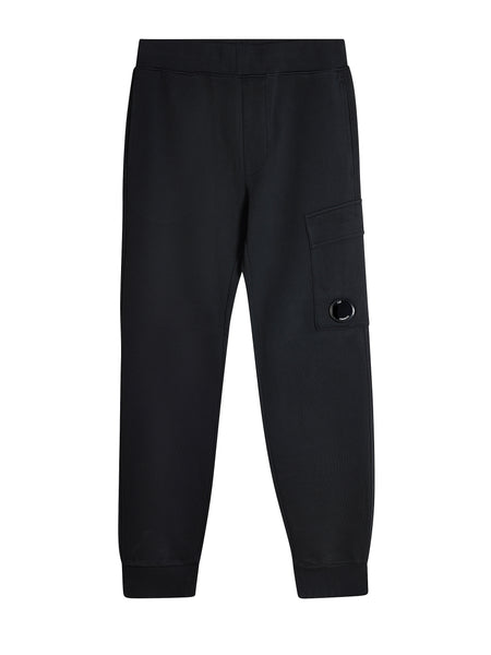 Fleece Lens Trousers in Black