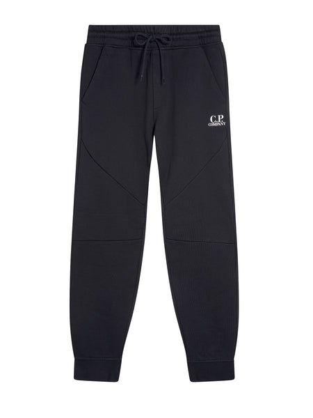 Diagonal Fleece Jogging Pants in Dark Navy