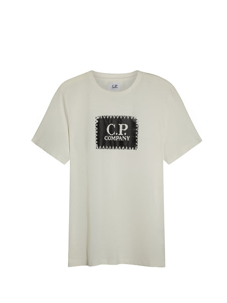 Printed Label SS T-Shirt in White