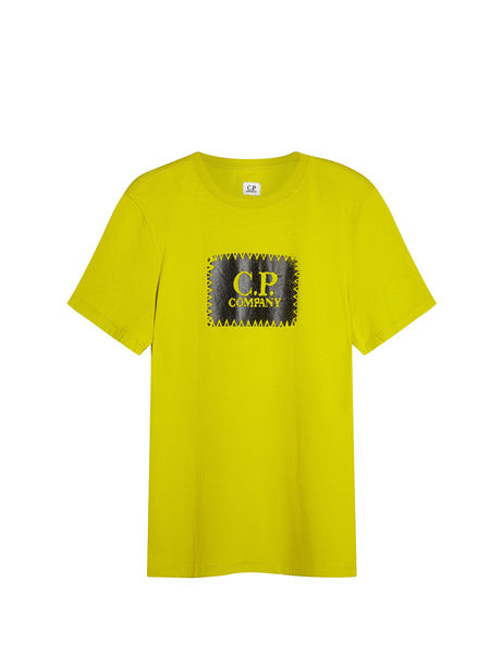 Printed Label SS T-Shirt in Yellow