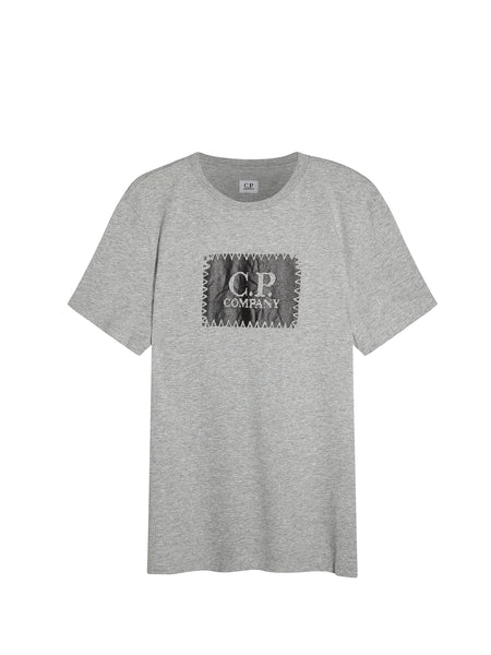 Printed Label SS T-Shirt in Grey