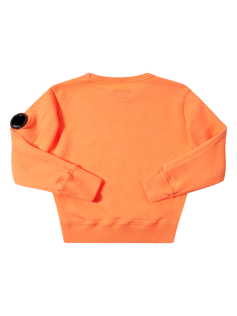 Undersixteen Lens Long Sleeve Logo Sweatshirt in Vermillion Orange