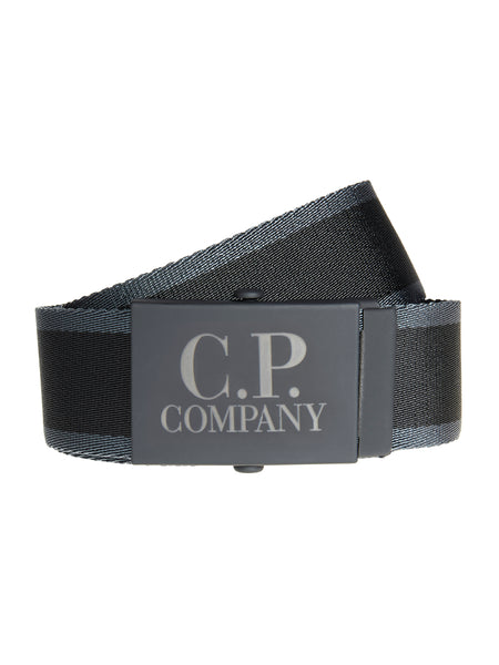 Woven Tape Belt in Black