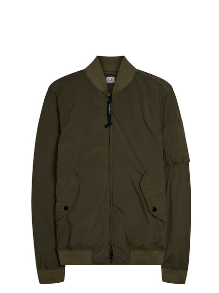 Nycra Bomber Jacket in Dark Olive