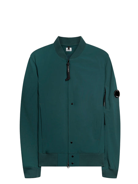 Shell Bomber Jacket In Green Gables