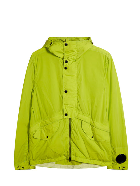 Nycra Goggle Hooded Jacket in Evening Primrose Green