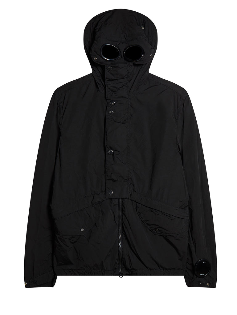 Nycra Goggle Hooded Jacket in Caviar Black