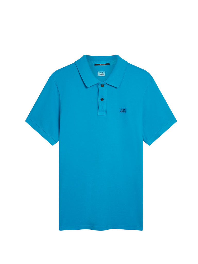 Cotton Pique Regular-Fit Polo Shirt in Hawaiian Ocean