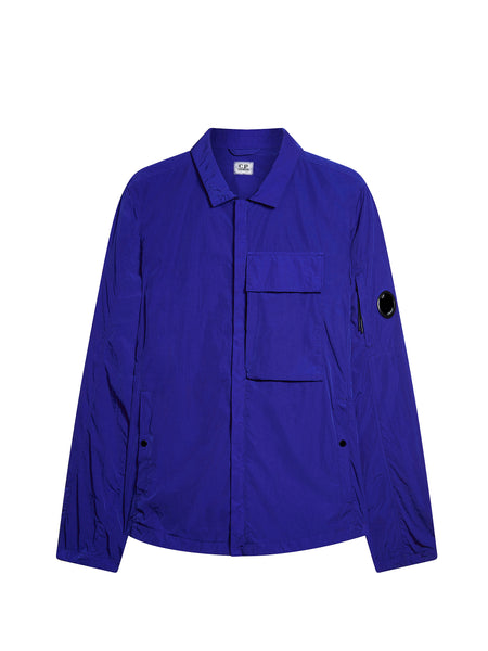 CHROME Overshirt in Dazzling Blue