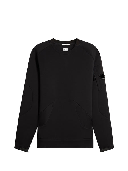 Scuba Fleece Crew Sweatshirt in Caviar Black