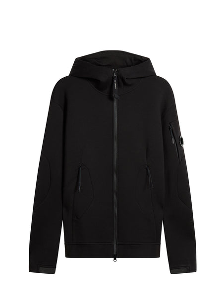 Scuba Fleece Lens Hoodie in Caviar Black