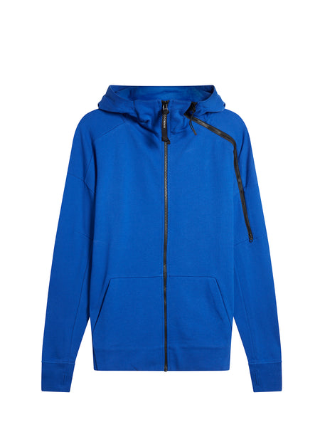 Goggle Hood Zip Sweatshirt in Dazzling Blue