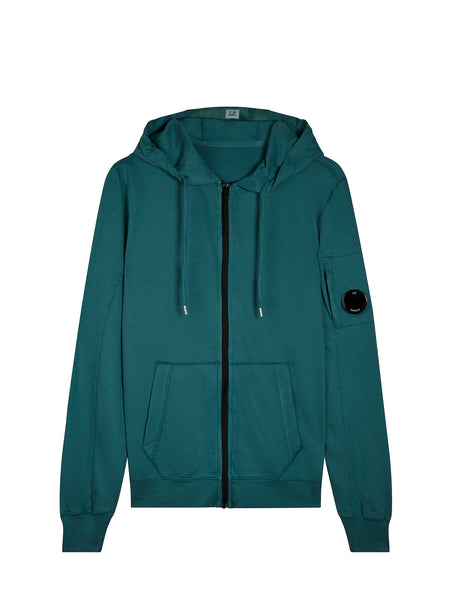 Light Fleece Hooded Sweatshirt in North Sea Blue
