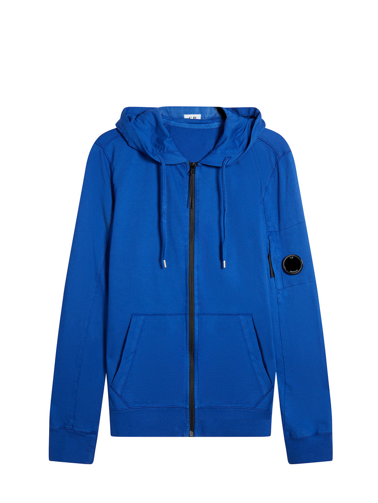 Re-colour Light Fleece Zip Hoodie in Dazzling Blue