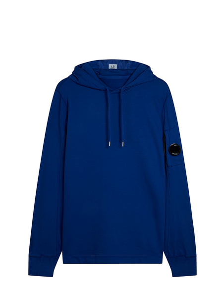 Garment Dyed Light Fleece Hoody in Dazzling Blue