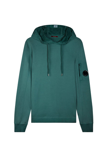 Re-Colour Hooded Sweatshirt in North Sea Blue
