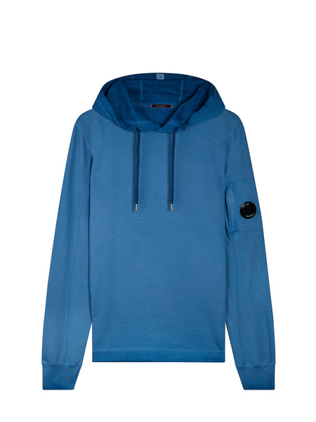 Re-Colour Hooded Sweatshirt in Dazzling Blue
